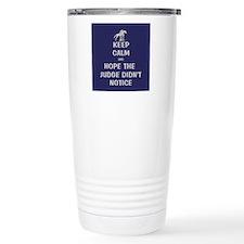 Funny Keep Calm Horse Show Travel Mug
