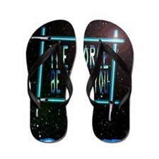 the force be with you Flip Flops