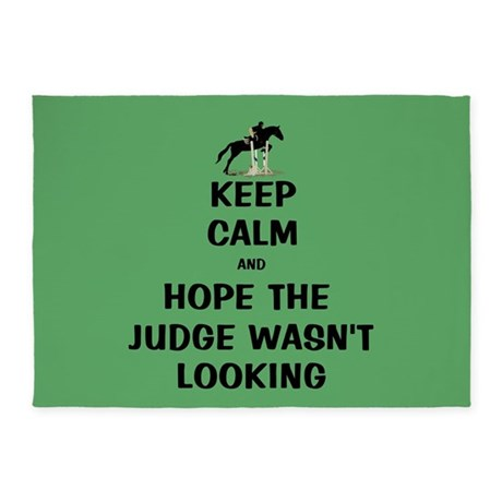 Funny Keep Calm Horse Show 5'x7'Area Rug