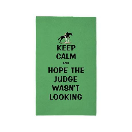 Funny Keep Calm Horse Show 3'x5' Area Rug