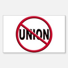 Anti-Union Rectangle Decal