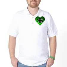 In The Black Dollar Sign Green Heart T-Shirt