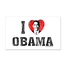 I Love Obama Rectangle Car Magnet