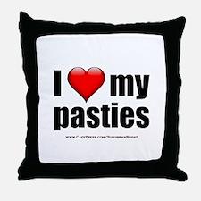 """Love My Pasties"" Throw Pillow"
