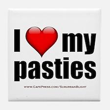 """Love My Pasties"" Tile Coaster"