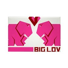 big love, verliebte elefanten Rectangle Magnet