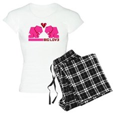 big love, verliebte elefanten Pajamas