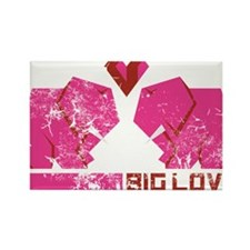 big love, rosa elefanten (used) Rectangle Magnet
