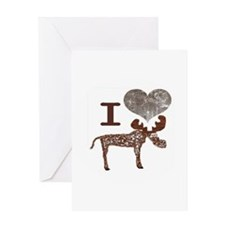 moosejpgheart Greeting Cards