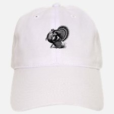 Black and White Turkey in Strut Baseball Baseball Baseball Cap