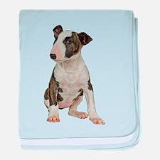 Bull Terrier baby blanket