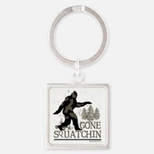 Gone Squatchin Square Keychain