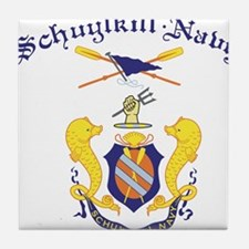 Crest of Schuylkill Navy Tile Coaster