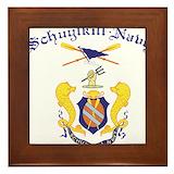 Crest schuylkill navy Framed Tiles