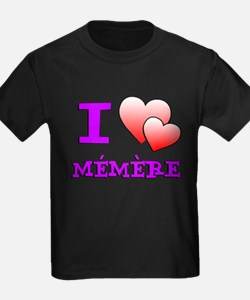 I Love Memere Fench Grandmother T-Shirt