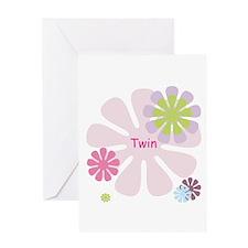 Twin Girls Greeting Card