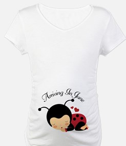 June Due Date Pregnancy Ladybug Shirt