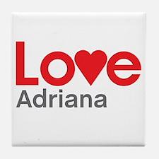 I Love Adriana Tile Coaster