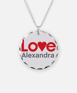 I Love Alexandra Necklace