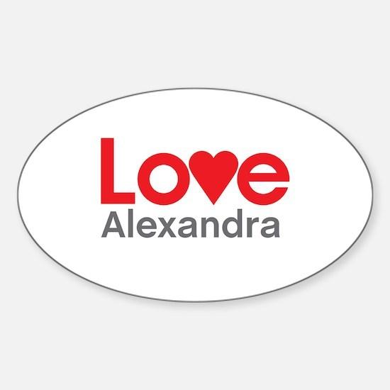 I Love Alexandra Decal