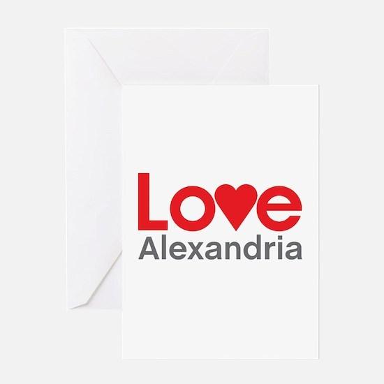 I Love Alexandria Greeting Card