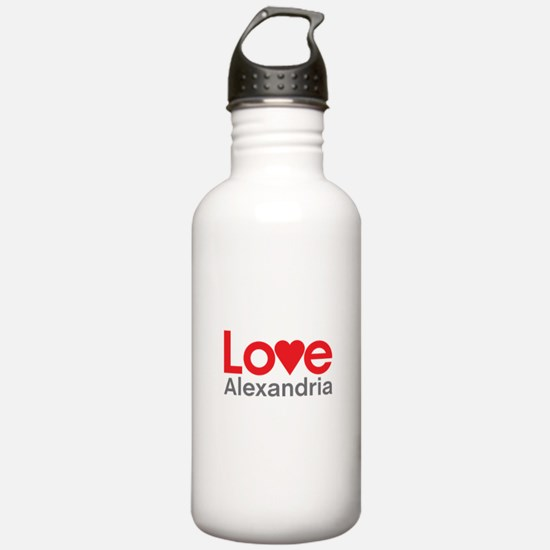 I Love Alexandria Water Bottle