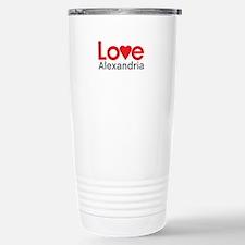 I Love Alexandria Travel Mug