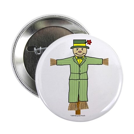 "Scarecrow In Suit 2.25"" Button (100 pack)"