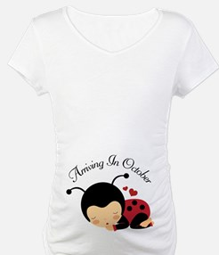 Arriving In October Baby Due Date Shirt