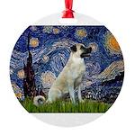 Starry-AnatolianShep 2 Round Ornament