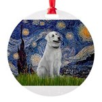Starry-AnatolianShep1 Round Ornament
