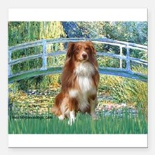 "TILE-Bridge-Aussie4Kira.png Square Car Magnet 3"" x"