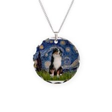 TILE-Starry-Aussie2.png Necklace Circle Charm