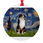 TILE-Starry-Aussie2.png Round Ornament