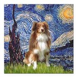 PILLOW-Starry-Aussie4-K.png Square Car Magnet 3