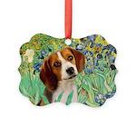 TILE-Irises-Beagle1.png Picture Ornament