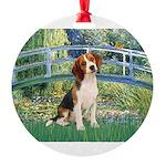 TILE-Bridge1-Beagle1.png Round Ornament