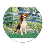 TILE-Bridge1-Beagle1.png Round Car Magnet