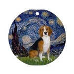 5.5x7.5-Starry-Beagle7.png Ornament (Round)