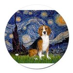 5.5x7.5-Starry-Beagle7.png Round Car Magnet