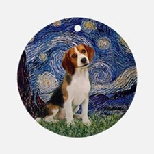 MP-Starry-Beagle1-nc.PNG Ornament (Round)
