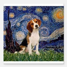 """MP-Starry-Beagle1-nc.PNG Square Car Magnet 3"""" x 3"""""""