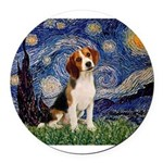 MP-Starry-Beagle1-nc.PNG Round Car Magnet