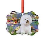 CLK-Lilies2-Bichon1.png Picture Ornament