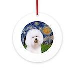 J-ORN-Starry-Bichon1.png Ornament (Round)