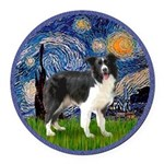 Starry Night - Border Collie (Z) - square.png Roun