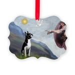 Boston Terrier 3 - Creation of Man Picture Ornamen