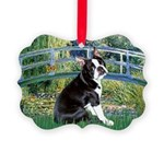 Boston Terrier 4 - The Bridge Picture Ornament