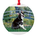 Boston Terrier 4 - The Bridge Round Ornament