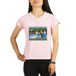Boston Terrier Sailboats Performance Dry T-Shirt